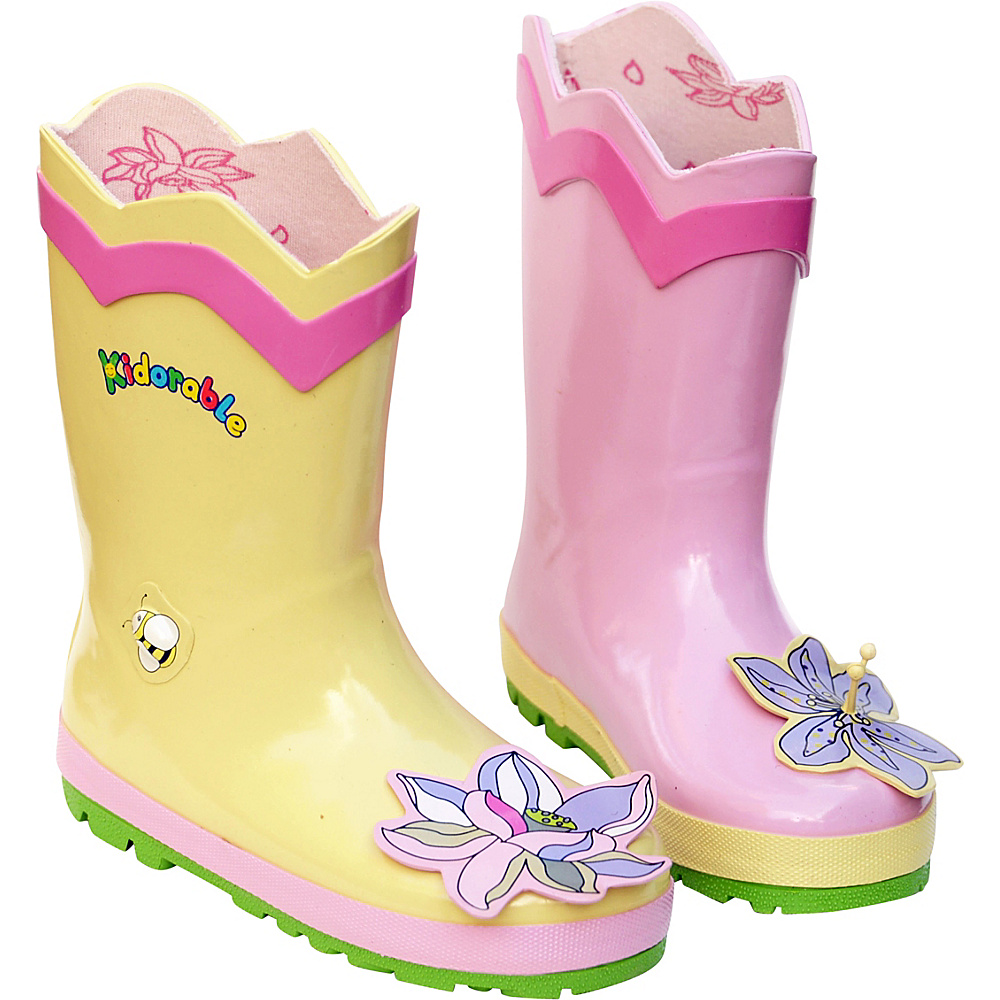 Kidorable Lotus Rain Boots 9 (US Toddlers) - M (Regular/Medium) - Yellow - Kidorable Womens Apparel - Apparel & Footwear, Women's Apparel