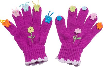 Kidorable Butterfly Knit Gloves L - Purple - Kidorable Hats/Gloves/Scarves