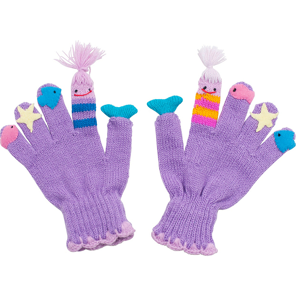 Kidorable Mermaid Knit Gloves Aqua Large Kidorable Hats Gloves Scarves