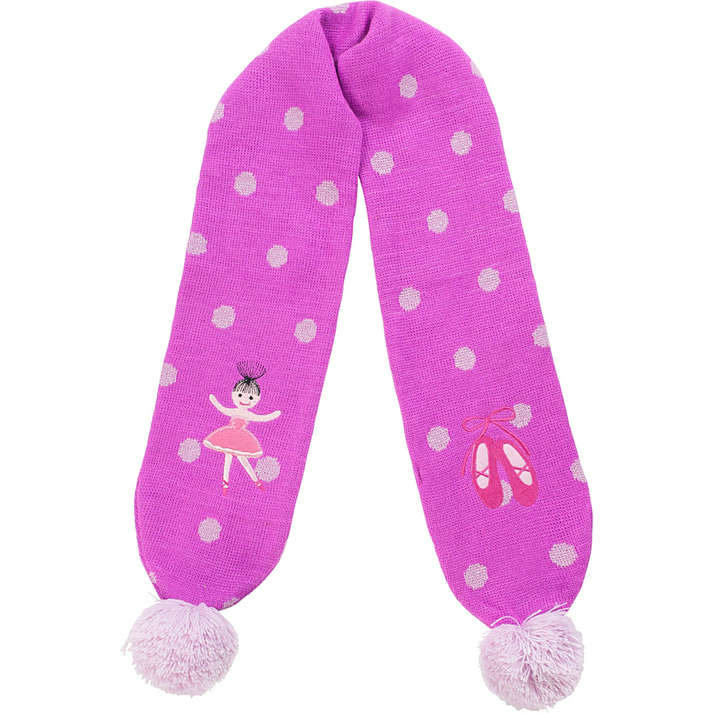 Kidorable Ballerina Knit Scarf Pink One Size Kidorable Hats Gloves Scarves