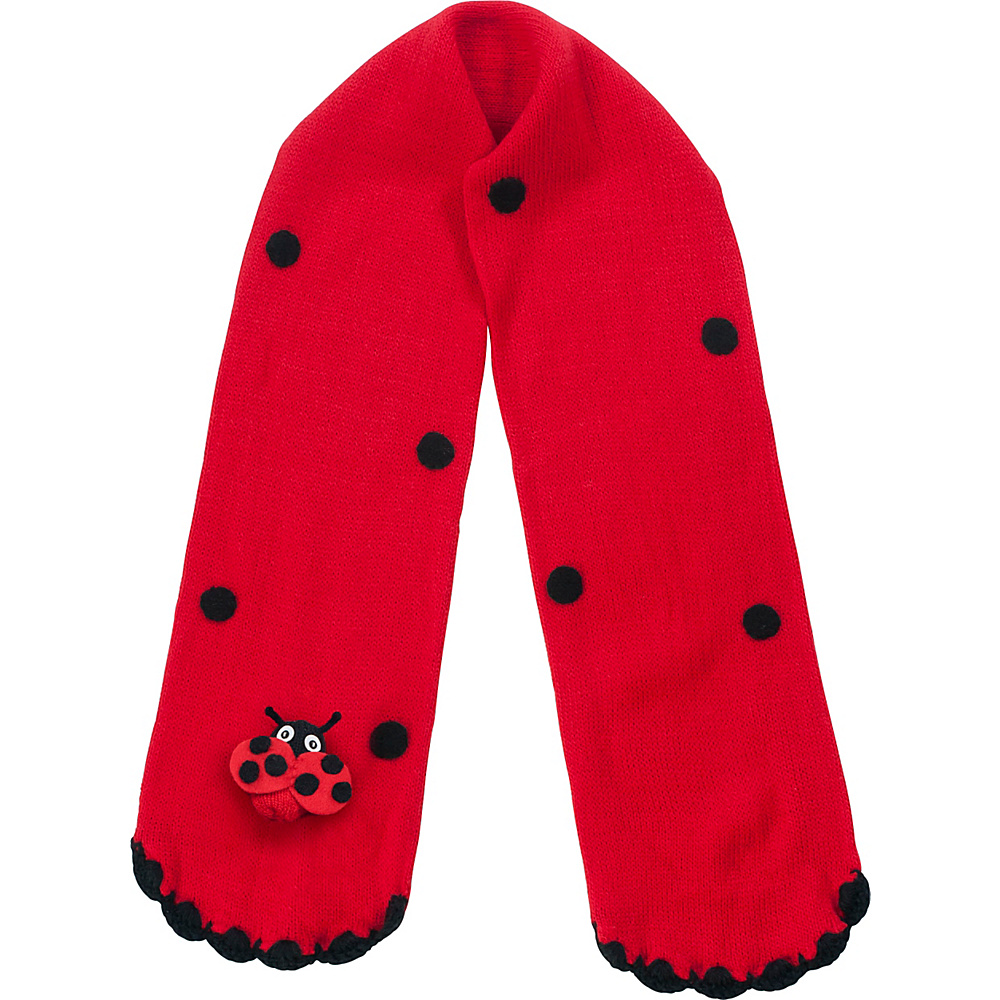 Kidorable Ladybug Knit Scarf Red One Size Kidorable Hats Gloves Scarves
