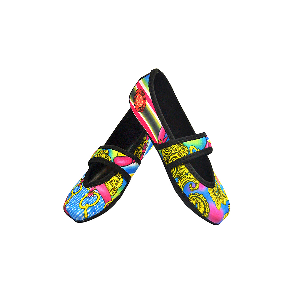 NuFoot Betsy Lou Travel Slipper Patterns S Pink Bamboo Small NuFoot Women s Footwear