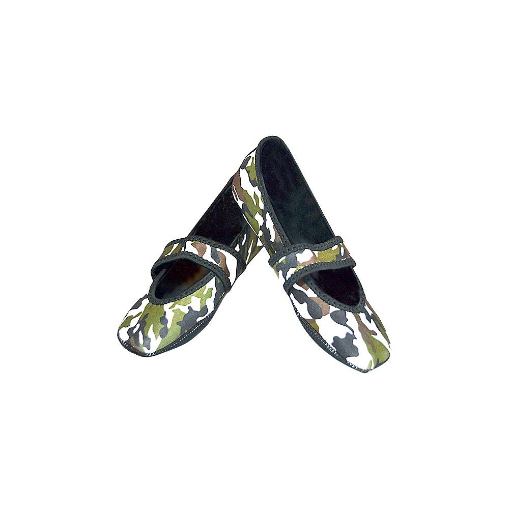 NuFoot Betsy Lou Travel Slipper Patterns S Camo Small NuFoot Women s Footwear