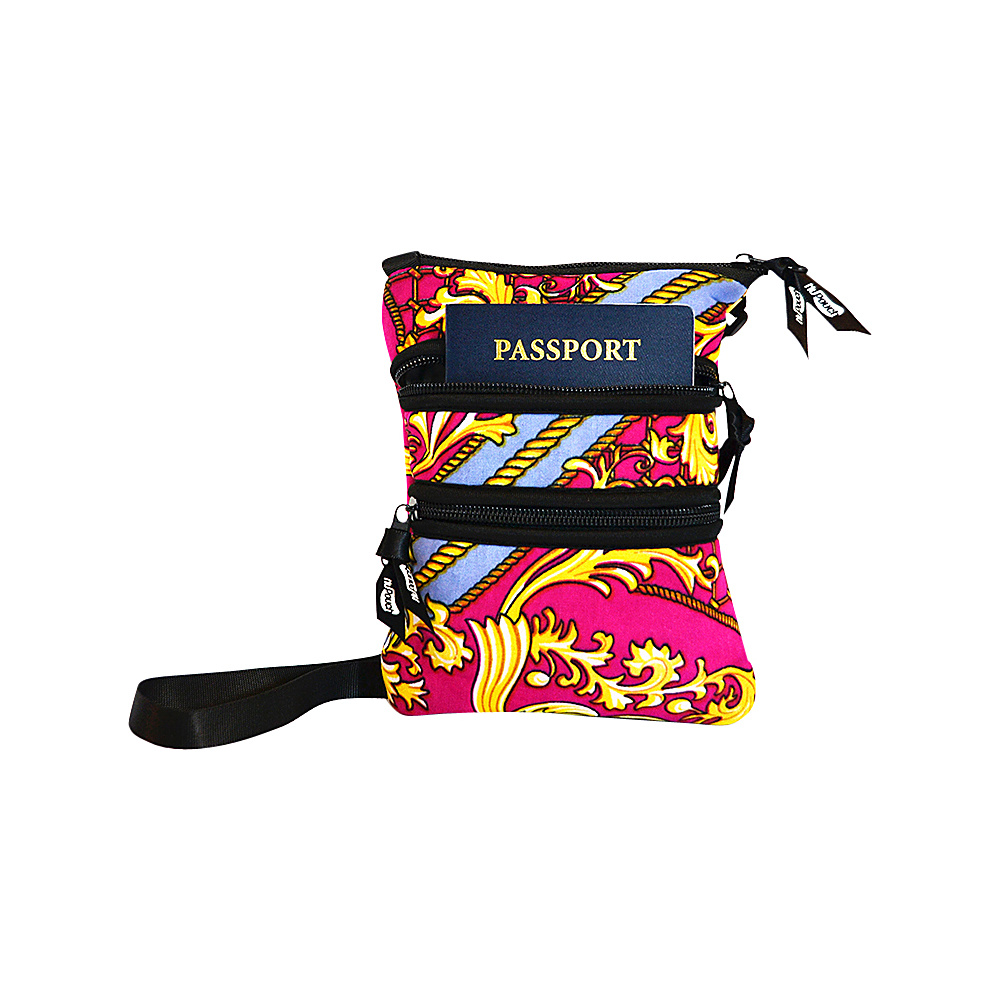 NuFoot NuPouch Passport Slings Purple Flowers NuFoot Travel Wallets