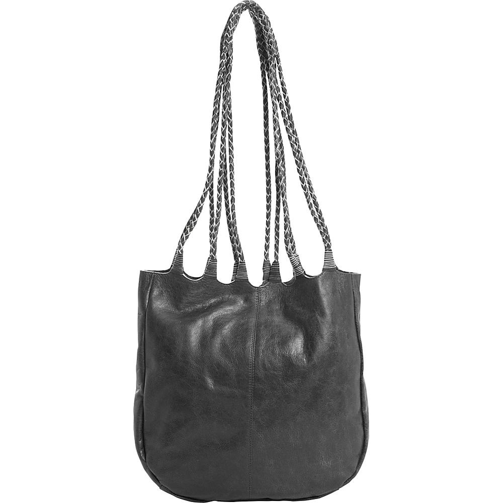 Latico Leathers Ginny Tote Washed Black - Latico Leathers Leather Handbags - Handbags, Leather Handbags