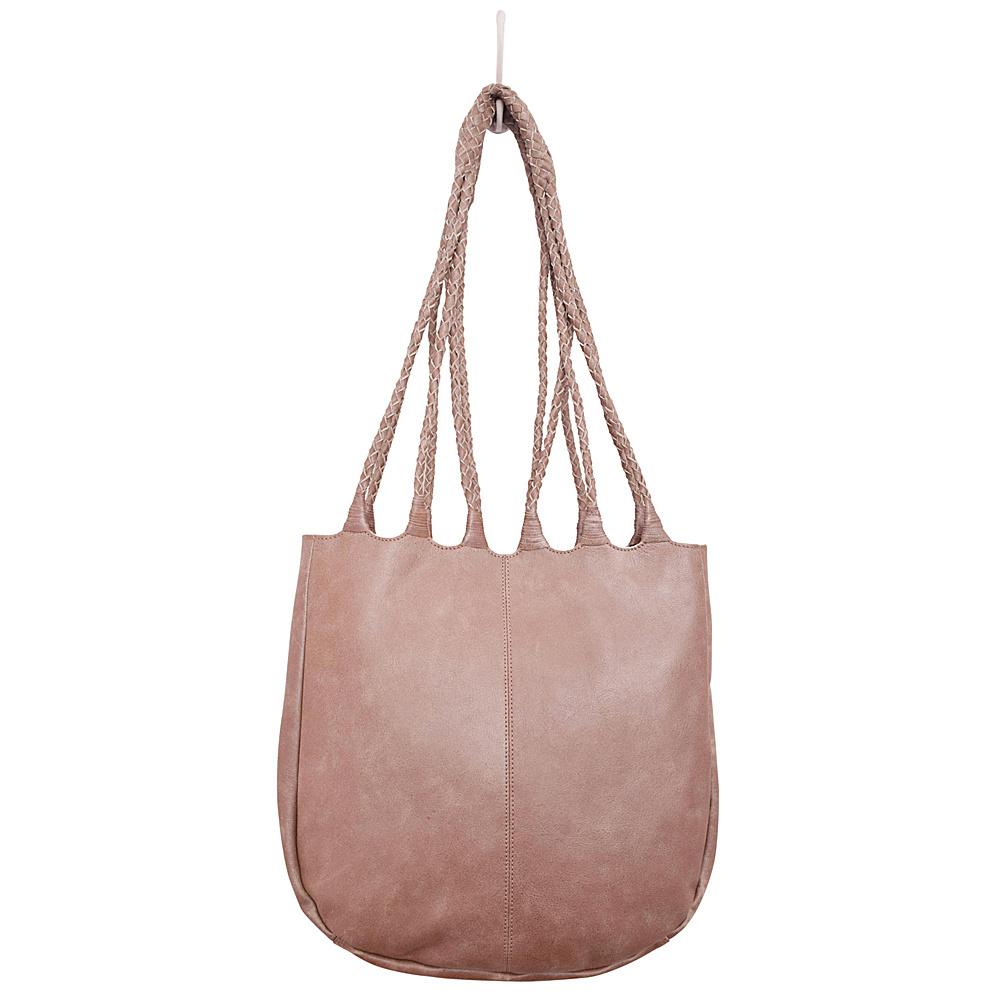 Latico Leathers Ginny Tote Crackle Metallic Rose - Latico Leathers Leather Handbags - Handbags, Leather Handbags