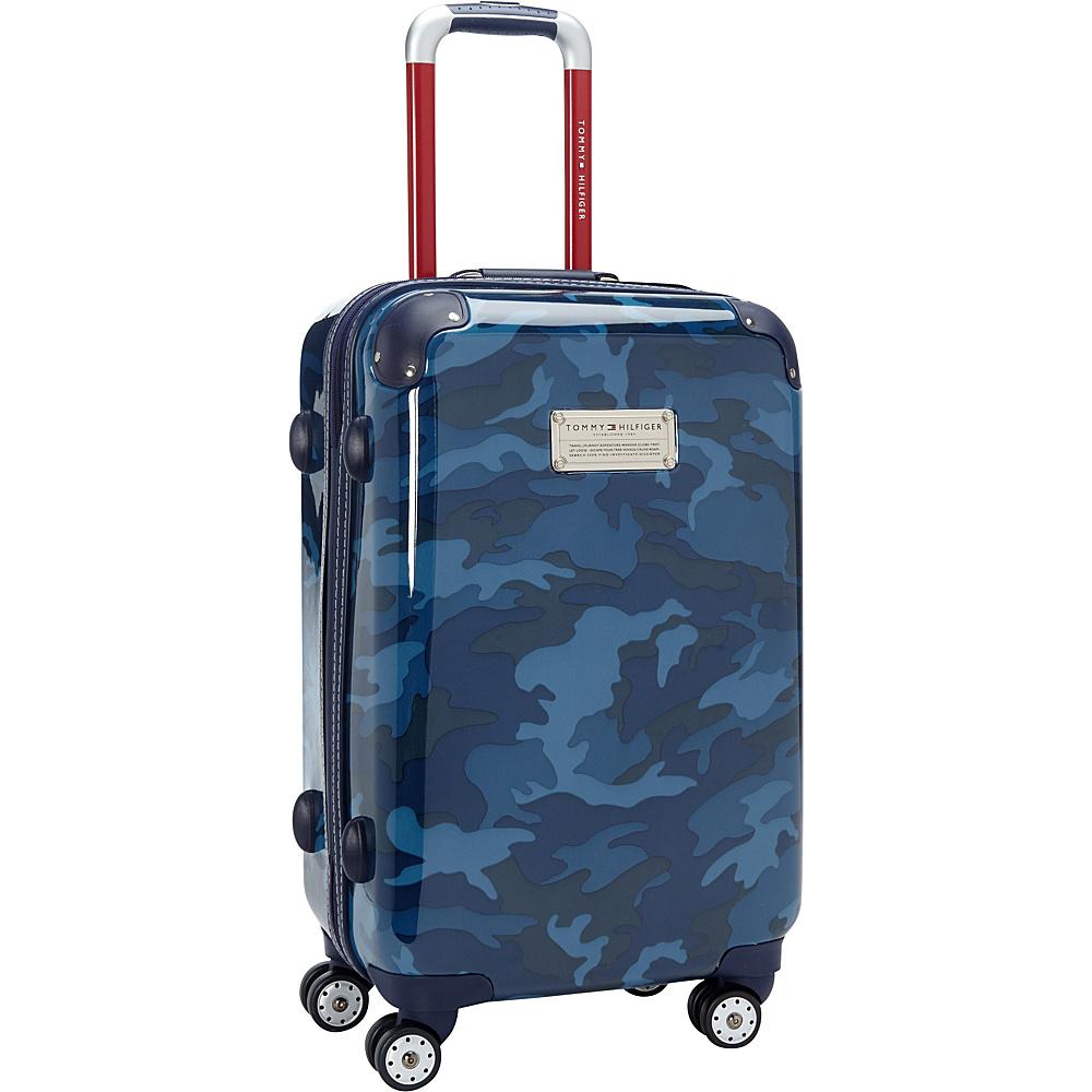 Tommy Hilfiger Luggage East Coast Camo 21 Hardside Carry On Spinner Navy Camo Tommy Hilfiger Luggage Hardside Carry On