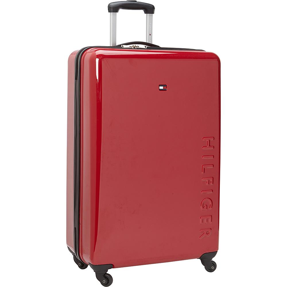 Tommy Hilfiger Luggage Bristol 28 Hardside Upright Spinner Red Tommy Hilfiger Luggage Hardside Checked