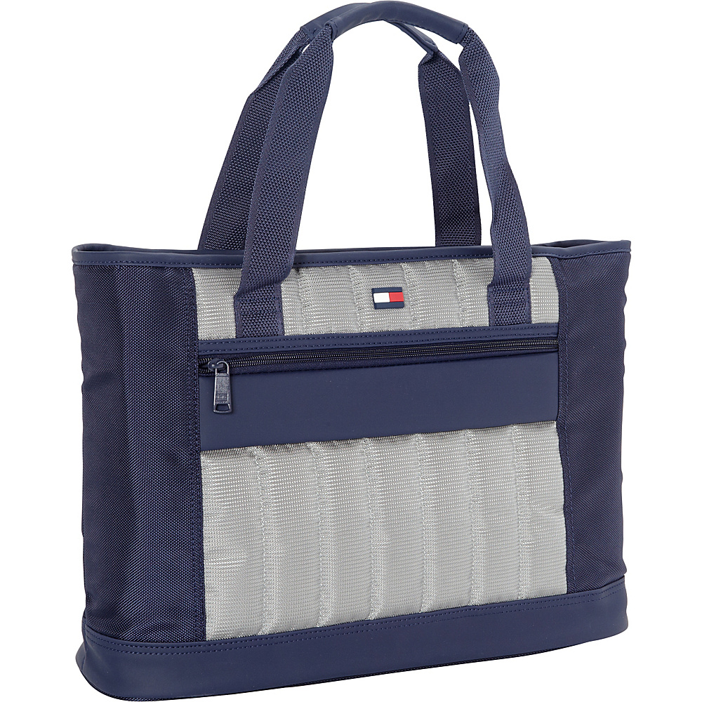 "Tommy Hilfiger Luggage Classic Sport 17"" Weekender Shopper Tote Navy/Grey - Tommy Hilfiger Luggage Luggage Totes and Satchels"