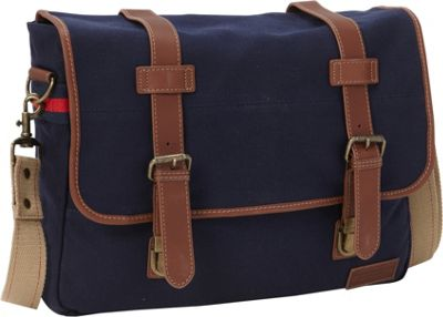 Tommy Hilfiger Luggage Workhorse Flap Over Messenger Small Navy - Tommy Hilfiger Luggage Messenger Bags