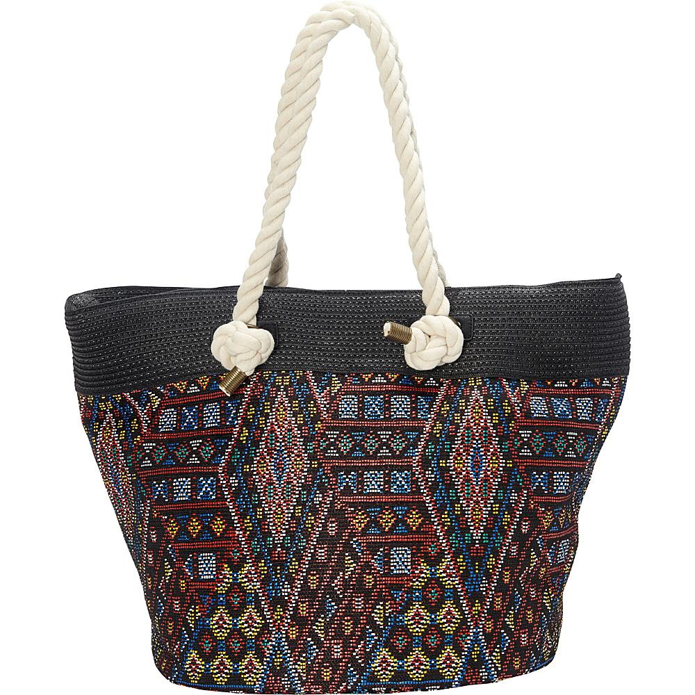 Sun N Sand Miramar Tote Black - Sun N Sand Fabric Handbags - Handbags, Fabric Handbags