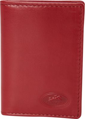 Mancini Leather Goods Mancini Leather Goods Mens RFID Secure I.D. Card Wallet Red - Mancini Leather Goods Men's Wallets