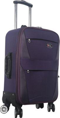 Brio Luggage 22 inch Carry-On Softside Trolley Case Luggage Purple - Brio Luggage Softside Carry-On