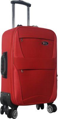 Brio Luggage 22 inch Carry-On Softside Trolley Case Luggage Red - Brio Luggage Softside Carry-On