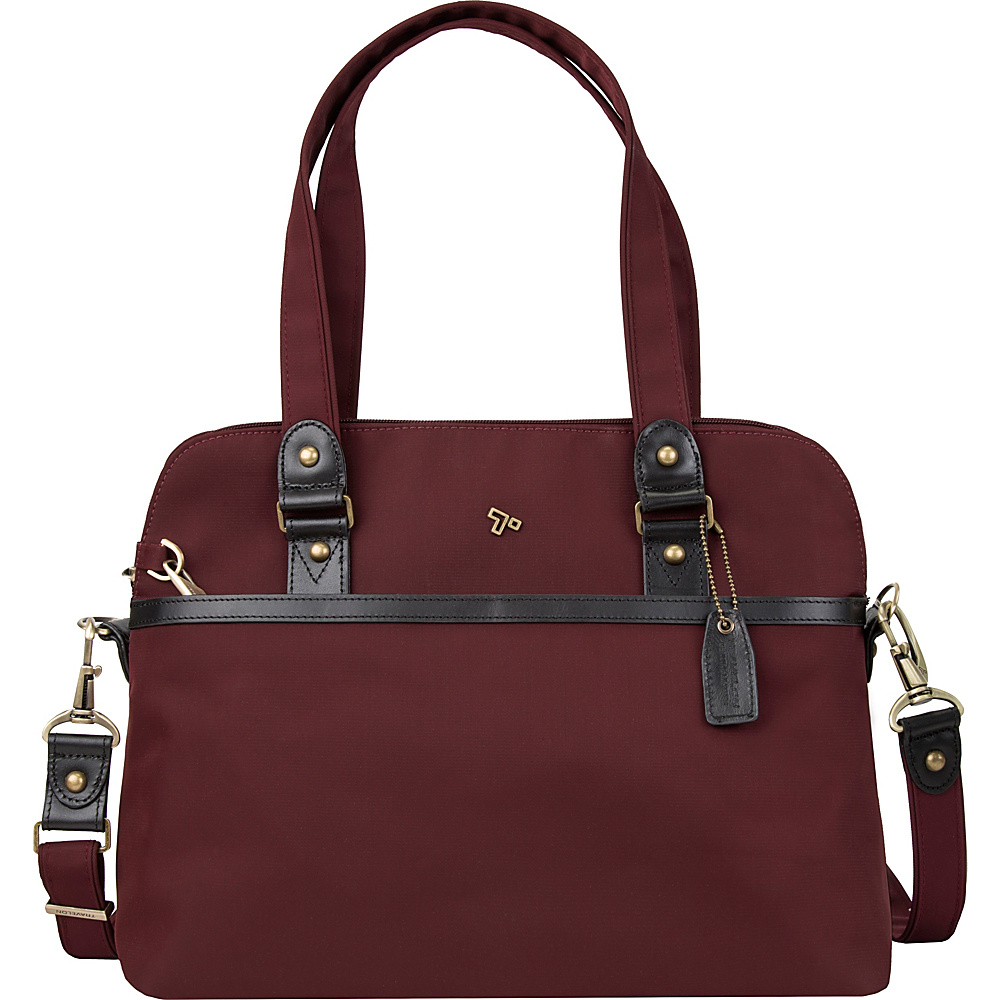 Travelon Anti-Theft LTD Satchel Wine - Travelon Fabric Handbags - Handbags, Fabric Handbags
