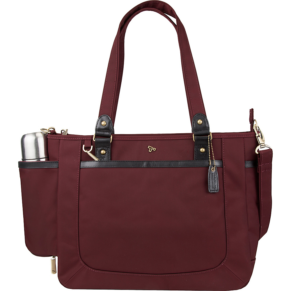 Travelon Anti-Theft LTD Tote Bag Wine - Travelon Womens Business Bags - Work Bags & Briefcases, Women's Business Bags