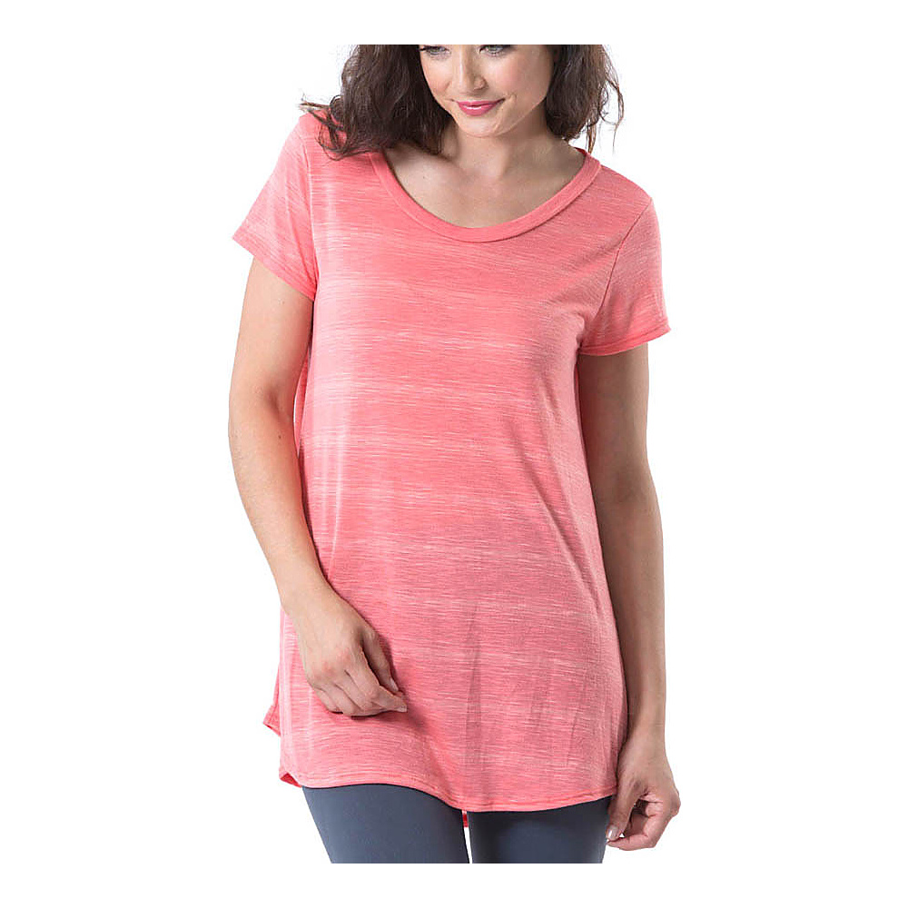 Electric Yoga Crewneck Shirt M Coral Electric Yoga Women s Apparel