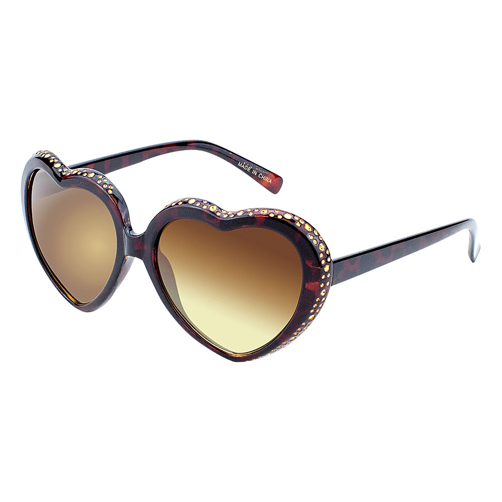 SW Global Eyewear Mimi Heart-Shaped Fashion Sunglasses Gold - SW Global Sunglasses - Fashion Accessories, Sunglasses