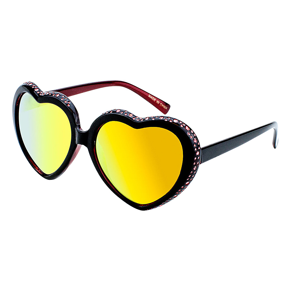 SW Global Eyewear Mimi Heart-Shaped Fashion Sunglasses Red - SW Global Sunglasses - Fashion Accessories, Sunglasses