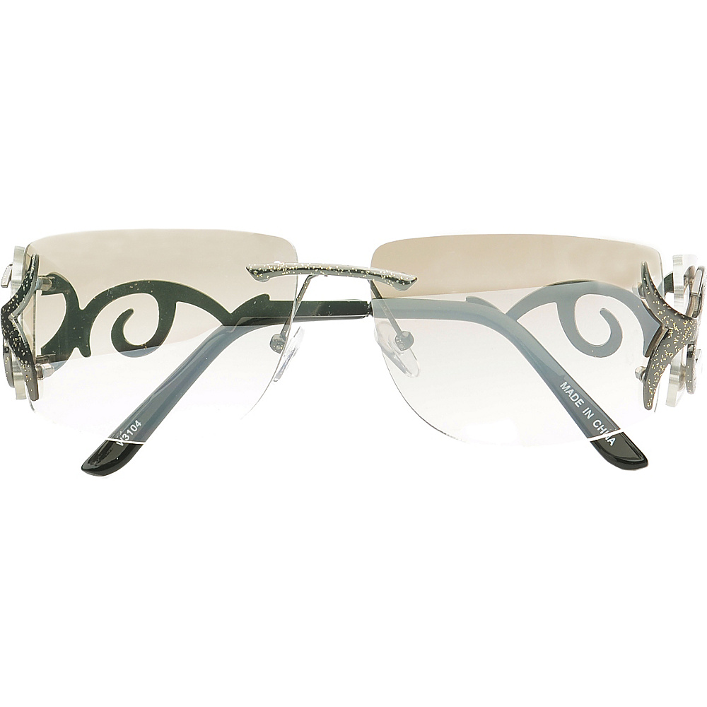 SW Global Eyewear Cassia Rimless Rectangle Fashion Sunglasses White SW Global Sunglasses