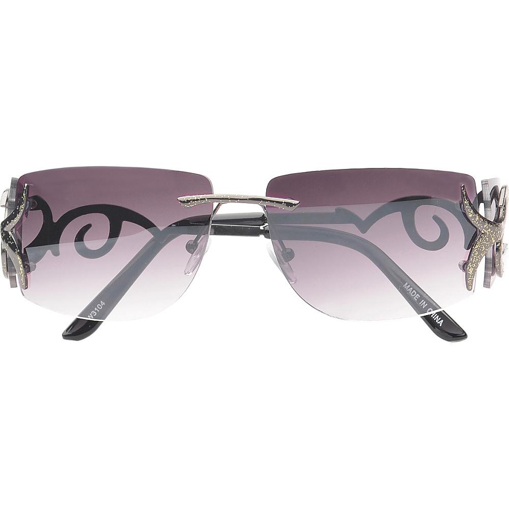 SW Global Eyewear Cassia Rimless Rectangle Fashion Sunglasses Black SW Global Sunglasses