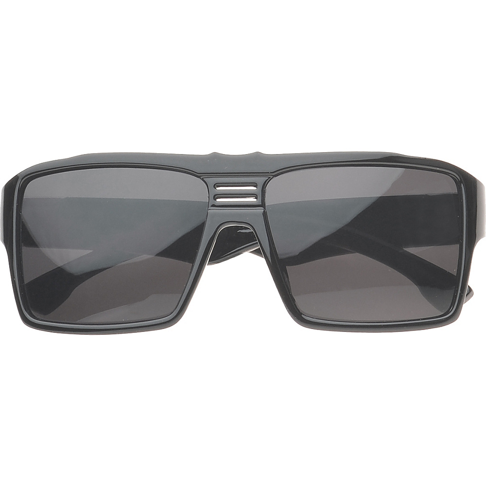 SW Global Eyewear Delano Rectangle Fashion Sunglasses Black - SW Global Sunglasses - Fashion Accessories, Sunglasses