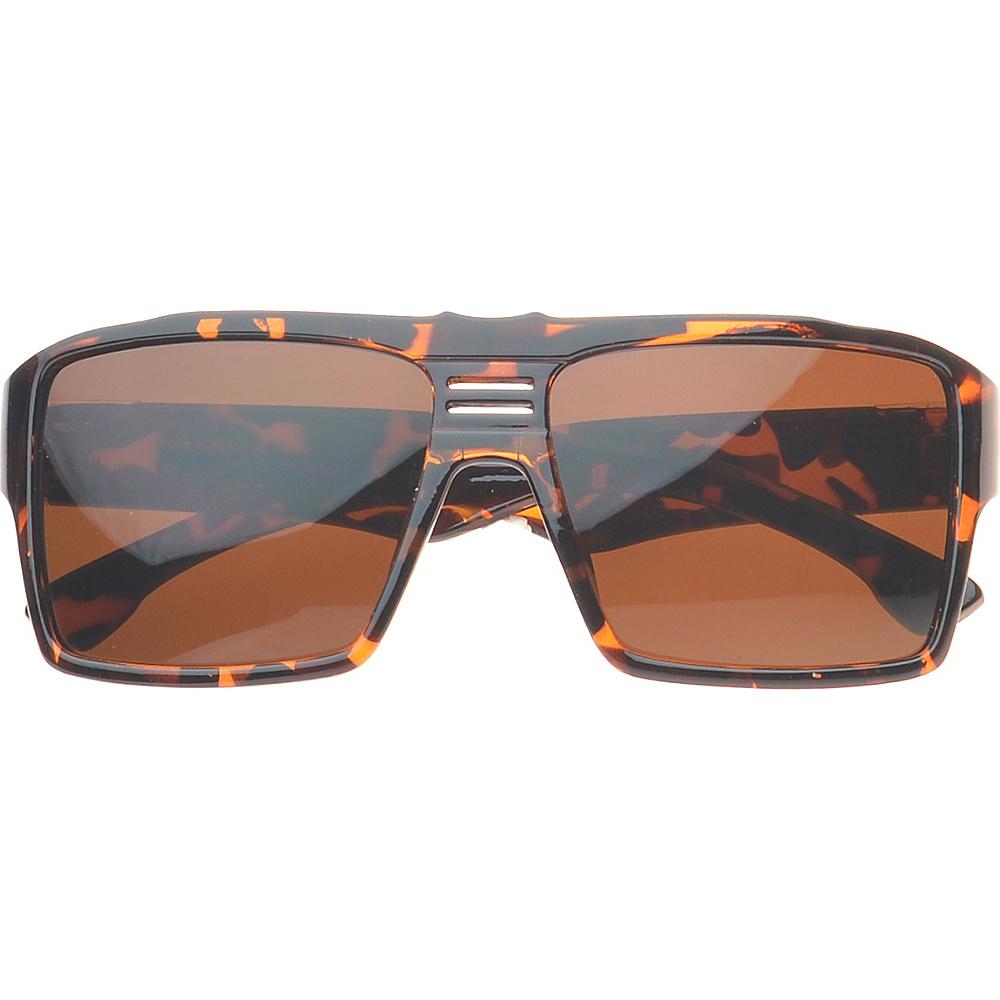SW Global Eyewear Delano Rectangle Fashion Sunglasses Brown - SW Global Sunglasses - Fashion Accessories, Sunglasses
