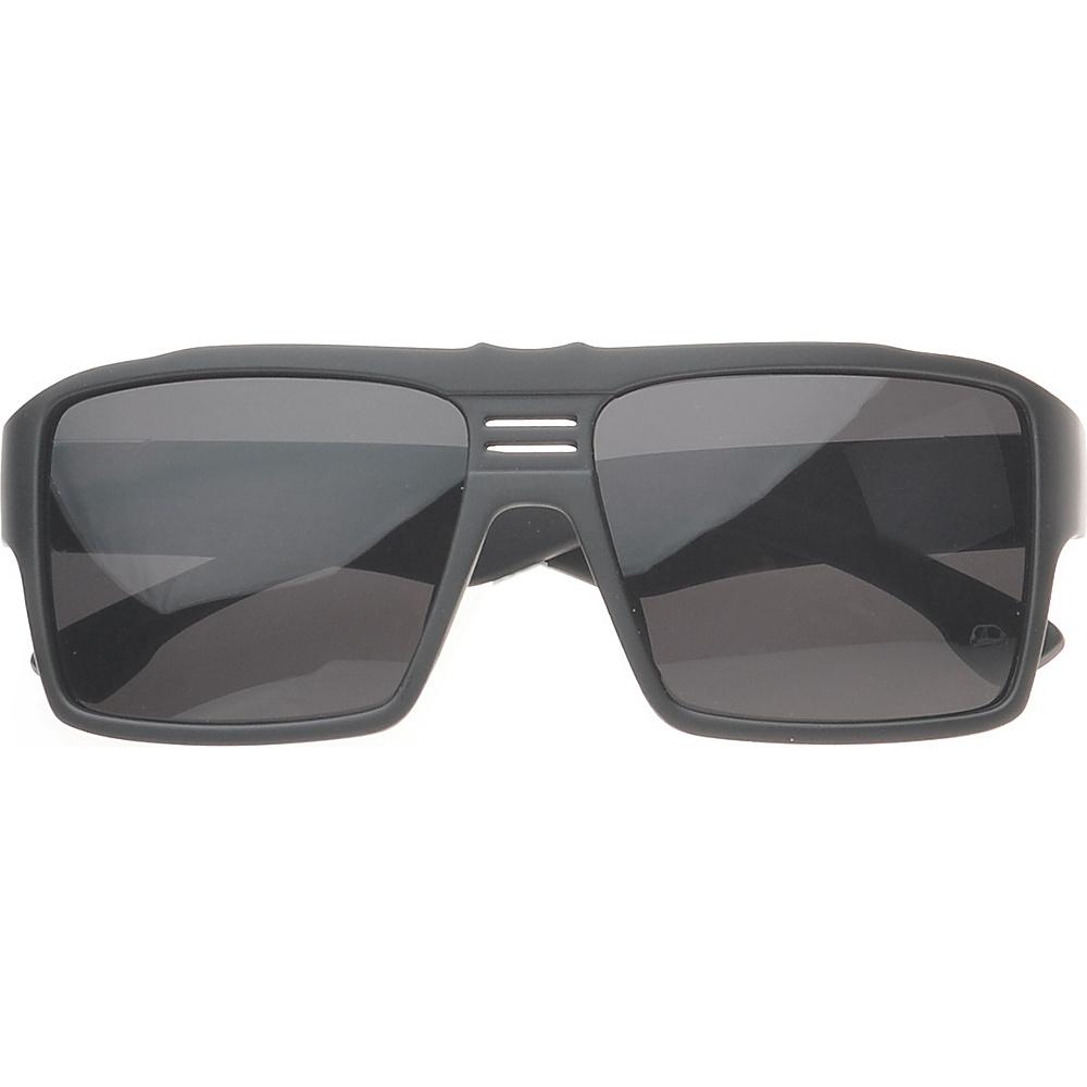 SW Global Eyewear Delano Rectangle Fashion Sunglasses Matte Black - SW Global Sunglasses - Fashion Accessories, Sunglasses