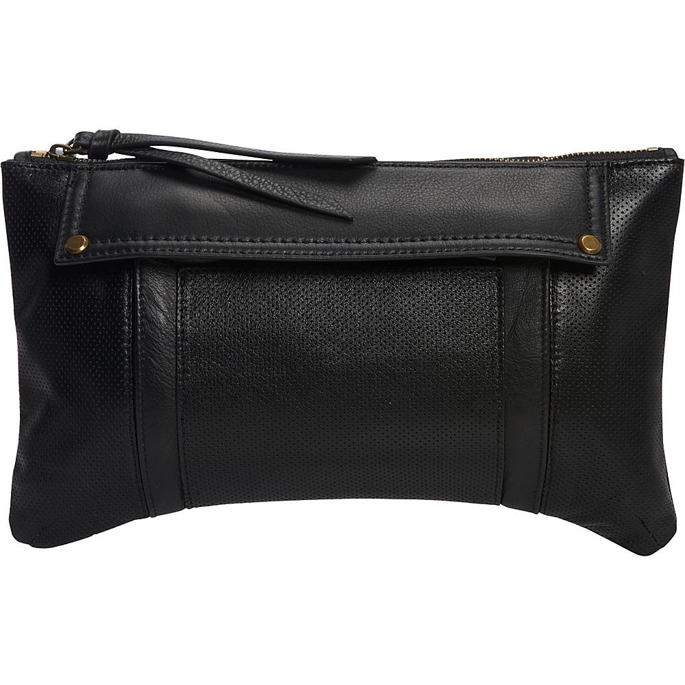 MOFE Kismet Clutch Black Brass Hardware MOFE Leather Handbags
