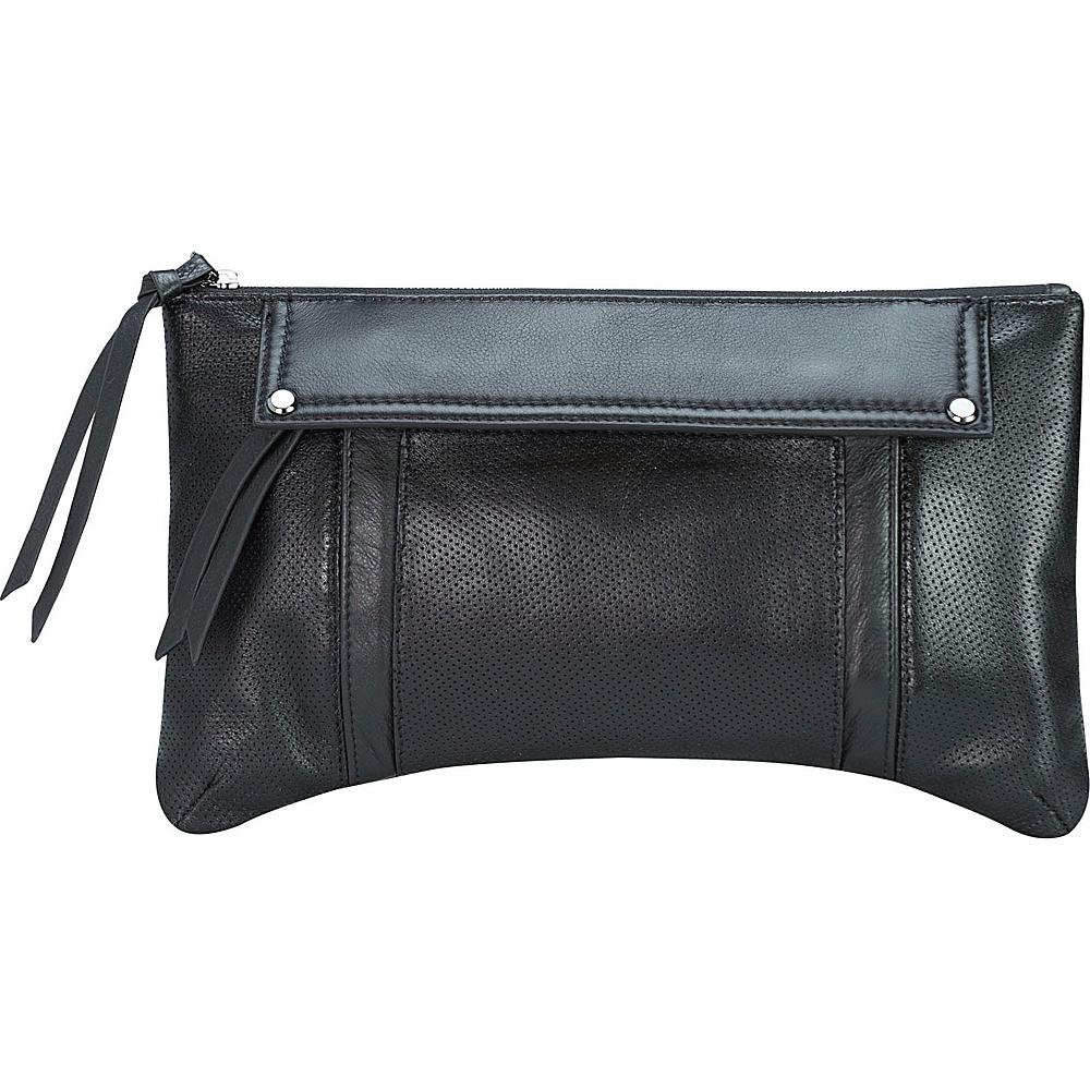 MOFE Kismet Clutch Black Gunmetal Hardware MOFE Leather Handbags