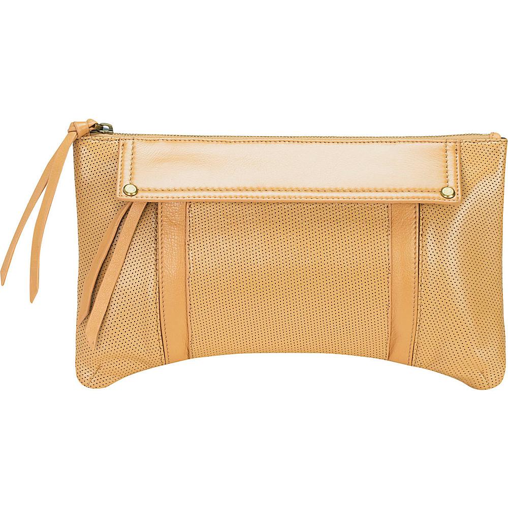 MOFE Kismet Clutch Tan Brass Hardware MOFE Leather Handbags