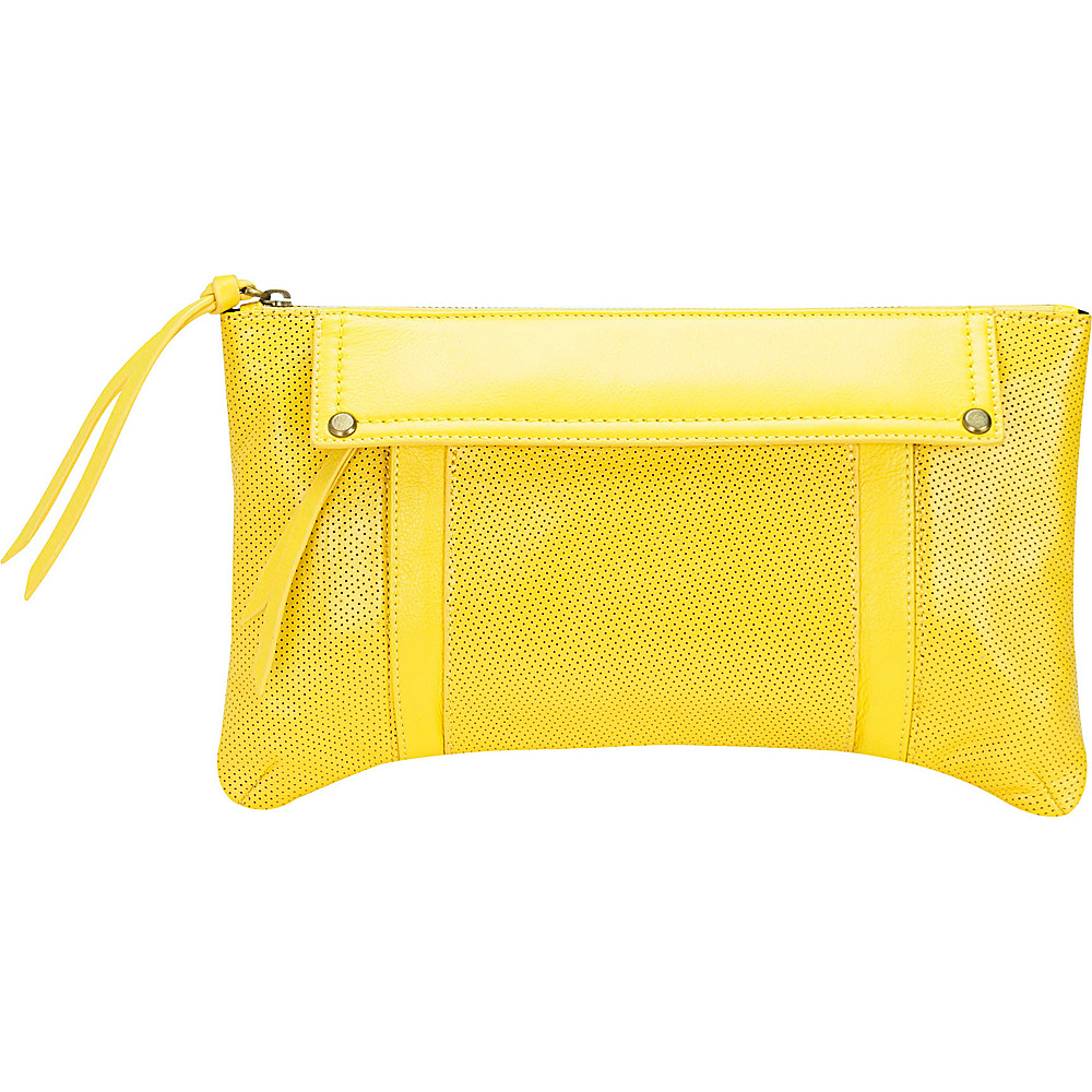 MOFE Kismet Clutch Yellow Brass Hardware MOFE Leather Handbags