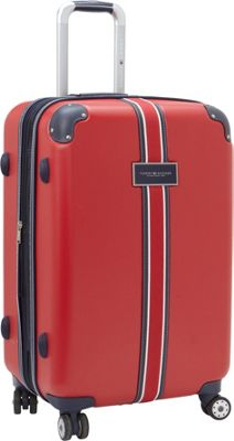 Tommy Hilfiger Luggage Classic Hardside 25 Upright Spinner Red - Tommy Hilfiger Luggage Hardside Checked