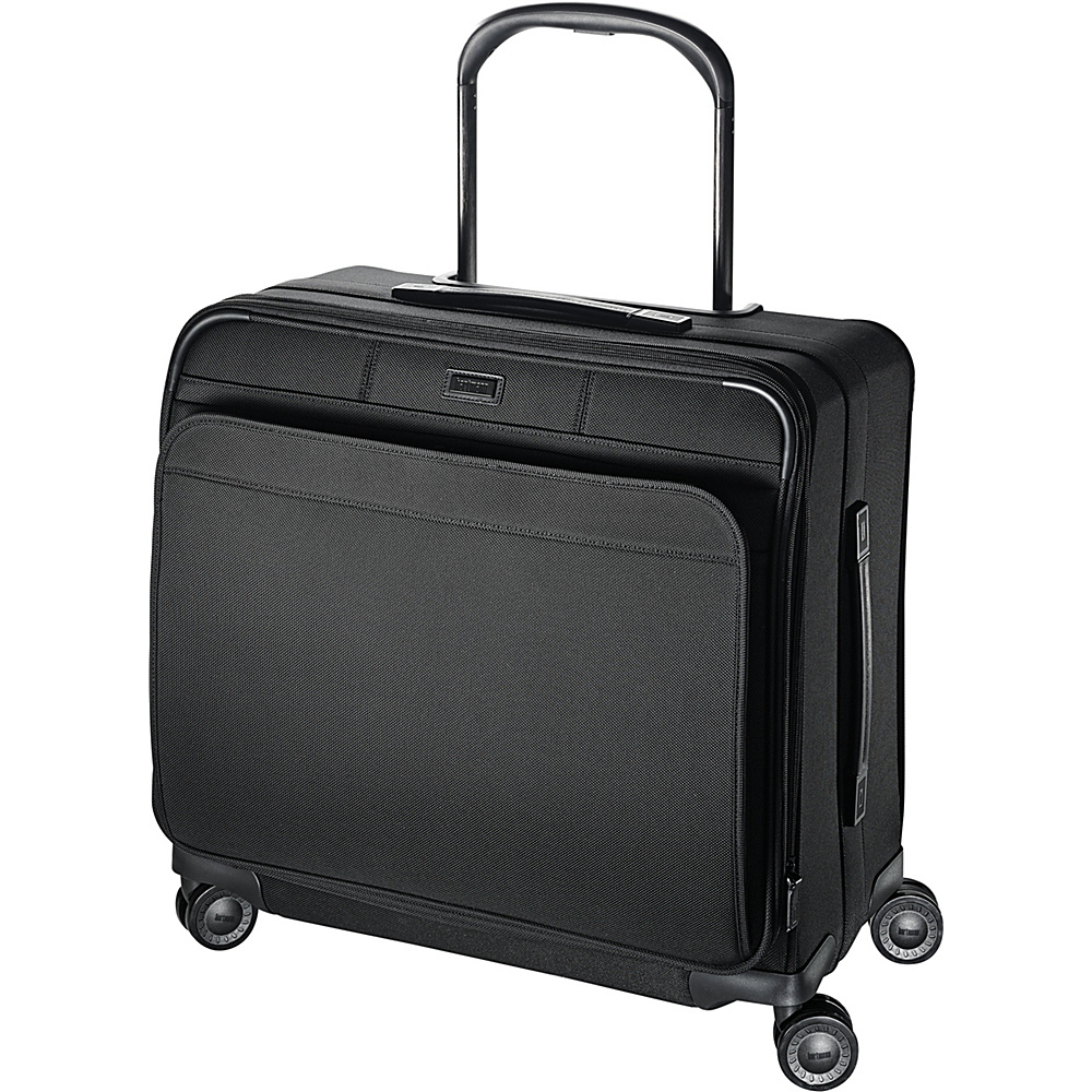 Hartmann Luggage Ratio Medium Journey Expandable Glider True Black Hartmann Luggage Softside Checked