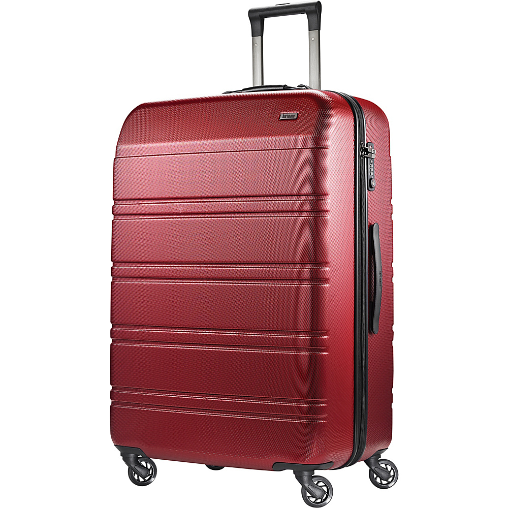 Hartmann Luggage Vigor 2 Extended Journey Spinner Garnet Red Hartmann Luggage Hardside Checked