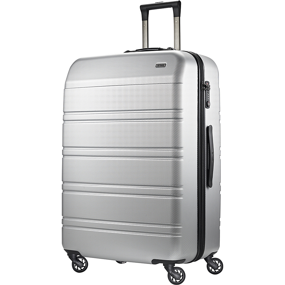 Hartmann Luggage Vigor 2 Extended Journey Spinner Glacial Silver Hartmann Luggage Hardside Checked