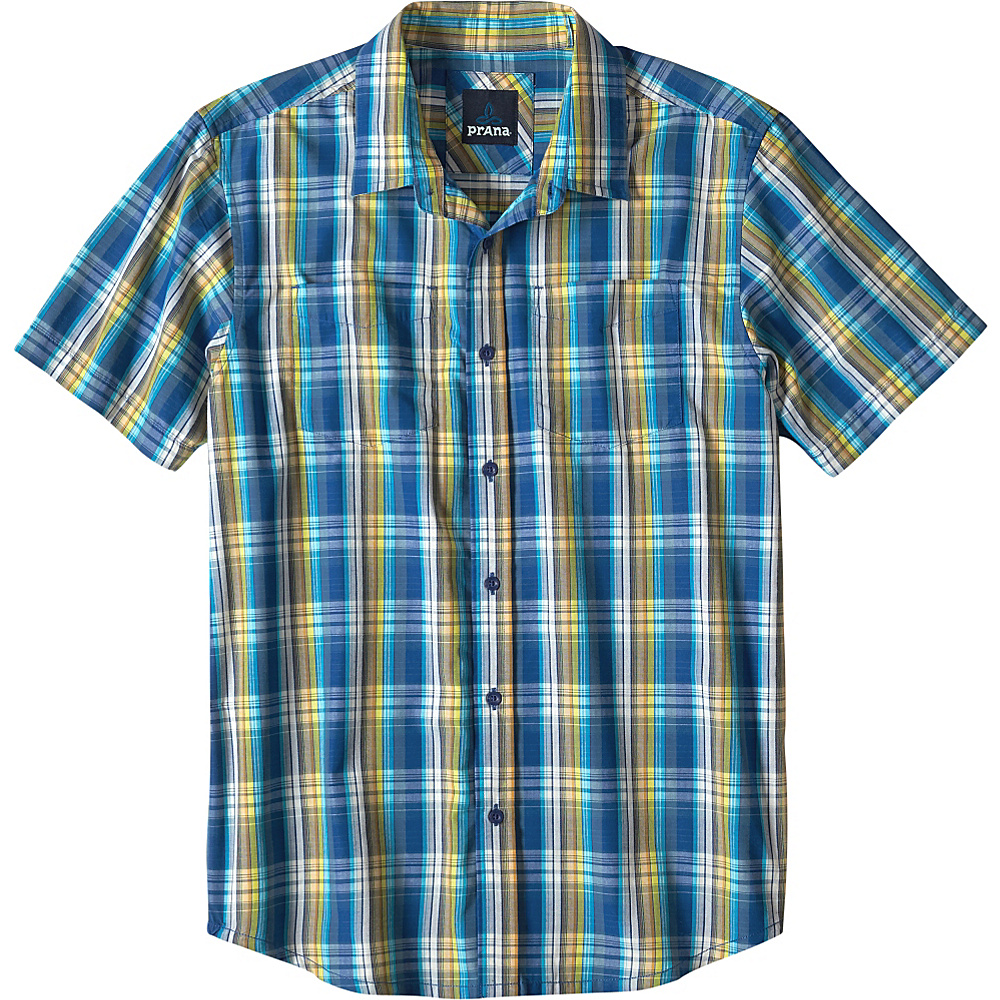 PrAna Holten Shirt S - Pure Blue - PrAna Mens Apparel - Apparel & Footwear, Men's Apparel