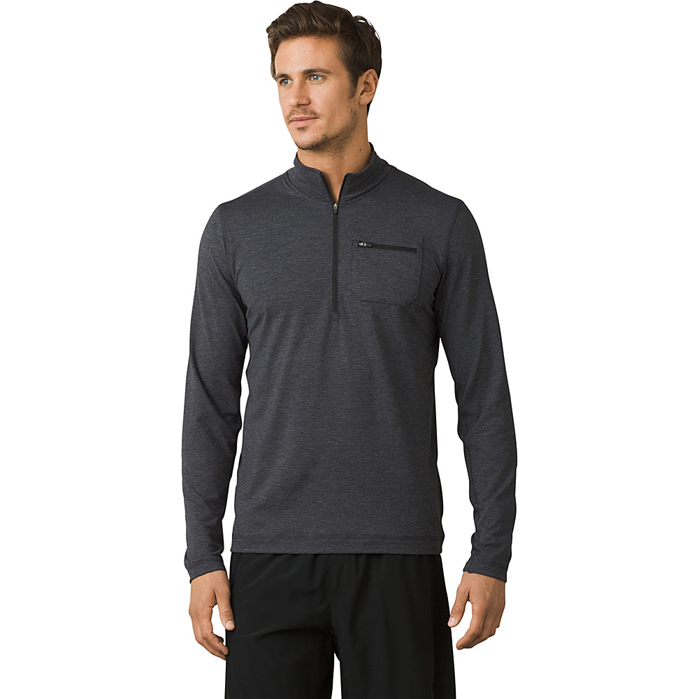 PrAna Zylo 1/4 Zip S - Charcoal - PrAna Mens Apparel - Apparel & Footwear, Men's Apparel