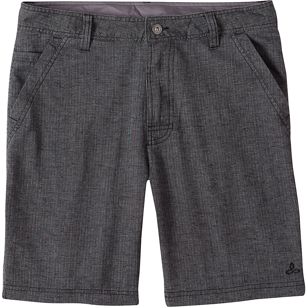 PrAna Furrow Shorts 30 - Black Herringbone - PrAna Mens Apparel - Apparel & Footwear, Men's Apparel