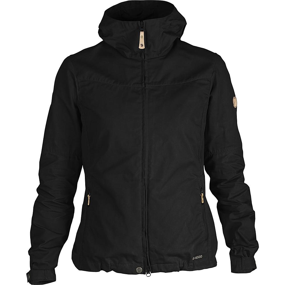 Fjallraven Womens Stina Jacket L - Black - 34 - Fjallraven Mens Apparel - Apparel & Footwear, Men's Apparel