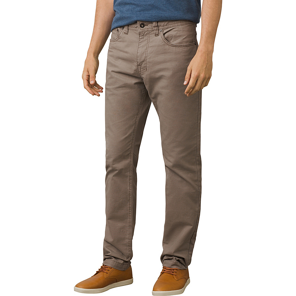 PrAna Tuscon Slim Fit Pants - 34 Inseam 36 - Mud - PrAna Mens Apparel - Apparel & Footwear, Men's Apparel