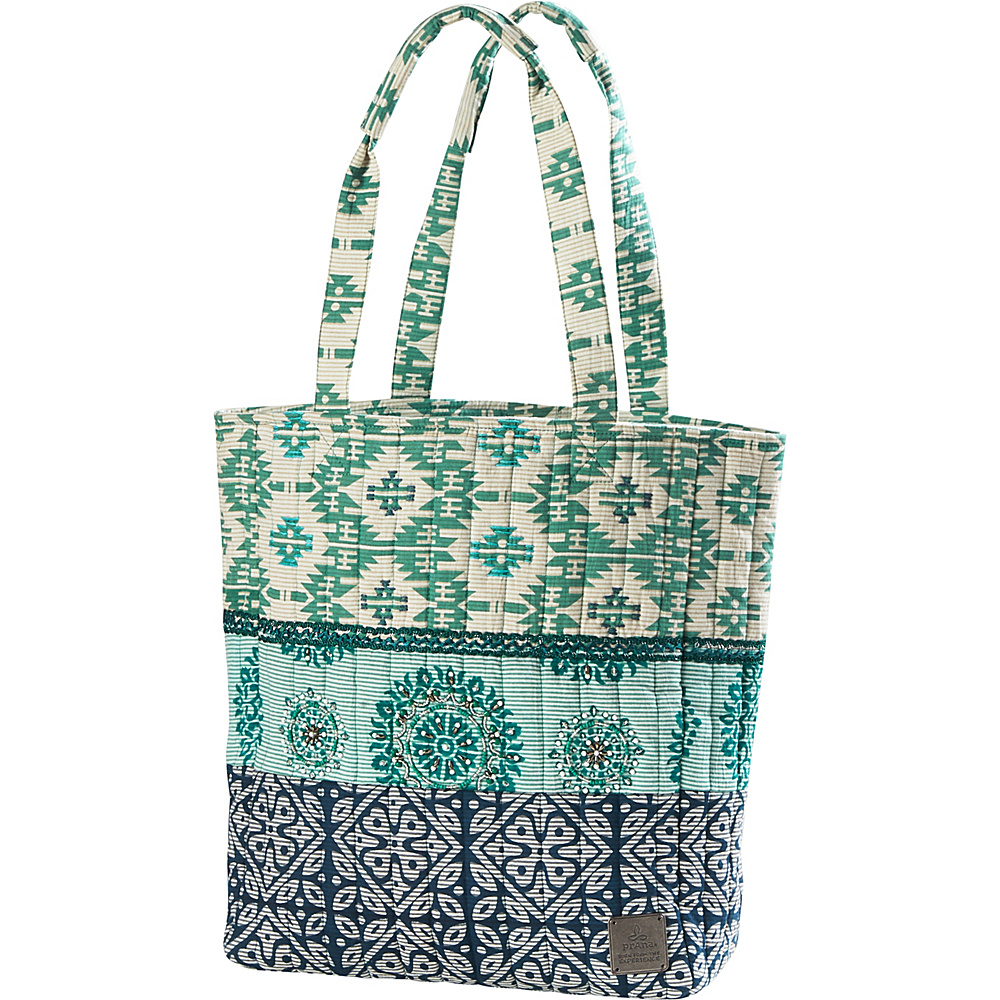 PrAna Bhakti Tote Emerald Waters - PrAna Fabric Handbags - Handbags, Fabric Handbags