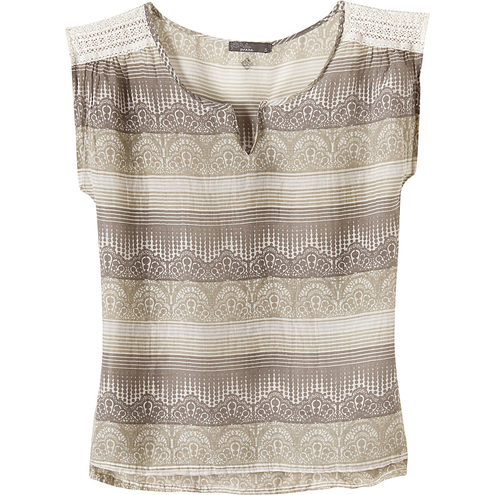 PrAna Illiana Top XS - Moonrock - PrAna Womens Apparel - Apparel & Footwear, Women's Apparel