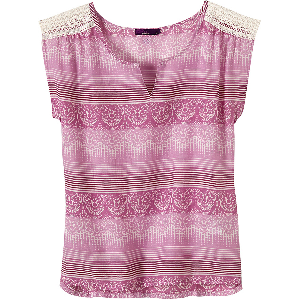 PrAna Illiana Top XS - True Orchid - PrAna Womens Apparel - Apparel & Footwear, Women's Apparel