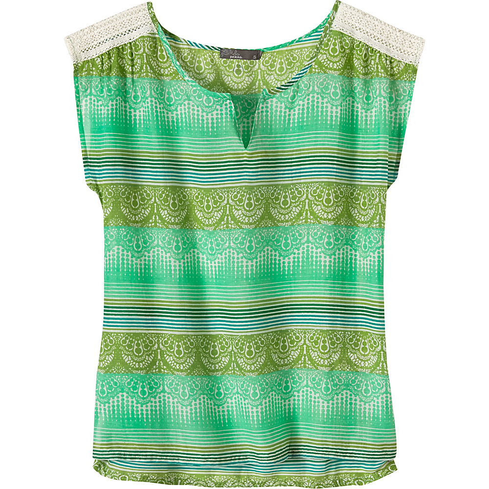 PrAna Illiana Top M - Light Jade - PrAna Womens Apparel - Apparel & Footwear, Women's Apparel