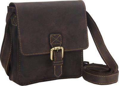 Visconti Modern Style Small Messenger Shoulder Bag Oil Brown - Visconti Messenger Bags