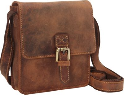 Visconti Modern Style Small Messenger Shoulder Bag Oil Tan - Visconti Messenger Bags
