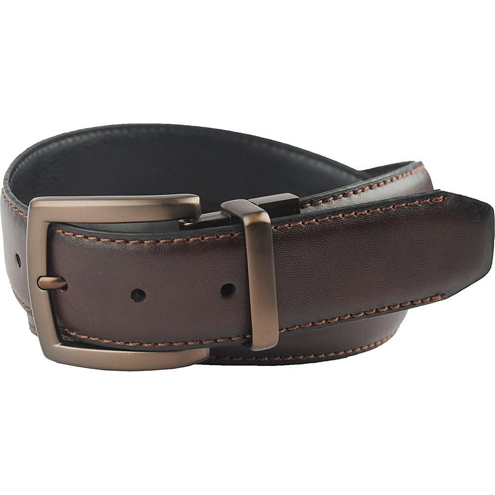 Columbia 38MM Reversible with Columbia Gem Logo on Buckle Brown Black 38 Columbia Other Fashion Accessories