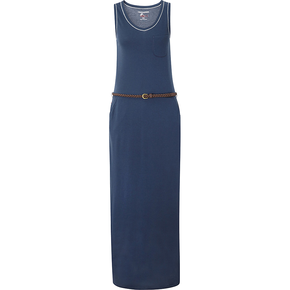 Craghoppers Nosilife Amiee Maxi Dress 4 - Soft Navy - Craghoppers Womens Apparel - Apparel & Footwear, Women's Apparel