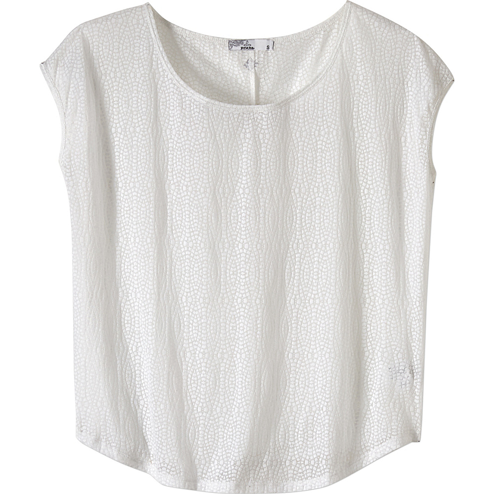 PrAna Tandi Top L - White - PrAna Womens Apparel - Apparel & Footwear, Women's Apparel
